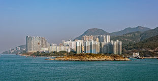 Appartments in Aberdeen Hong Kong build in Fen Shui Style Royalty Free Stock Photos