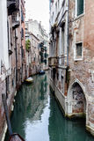 Appartments on a canal in Venice, Italy Stock Images