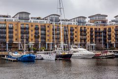 St. Katharine Docks, Tower Hamlets, London. Royalty Free Stock Photography