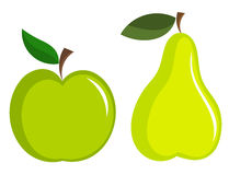 Appe and pear Royalty Free Stock Photos