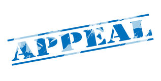 Appeal blue stamp Royalty Free Stock Images