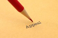Appeal. Close up of Appeal concept Royalty Free Stock Photo