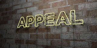 APPEAL - Glowing Neon Sign on stonework wall - 3D rendered royalty free stock illustration Stock Images