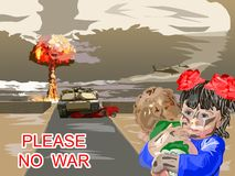 The appeal please no war Stock Photo
