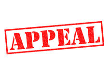 APPEAL. Red Rubber Stamp over a white background Stock Images