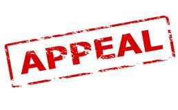 Appeal. Rubber stamp with word appeal inside,  illustration Royalty Free Stock Photos