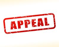 Appeal text buffered. Illustration of appeal text buffered on white background Stock Photography