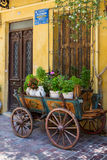 The appearance of the ancient streets in Crete. Royalty Free Stock Photo