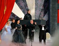 The appearance of the Commander in Mozarts opera Don Giovanni Stock Images