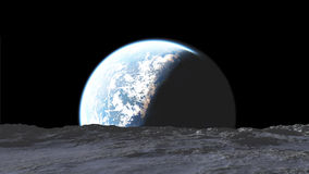 Appearance of the Earth as seen from the asteroid Stock Photos