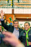 Appearance Of Ecuadorian President Rafael Correa Royalty Free Stock Images