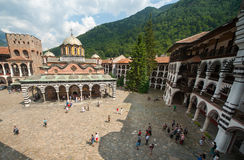 Appearance of a monastic belfry monastery and in t Stock Images