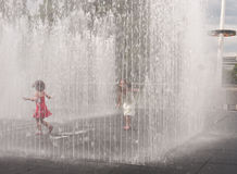 Appearing Rooms, water sculpture, South Bank. Royalty Free Stock Photos