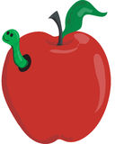 Appel & worm vector illustratie