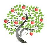 Appel-boom. royalty-vrije stock afbeeldingen