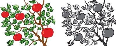Appel-boom vector illustratie