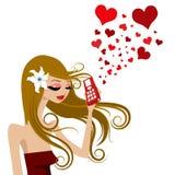 Appel d'amour illustration libre de droits