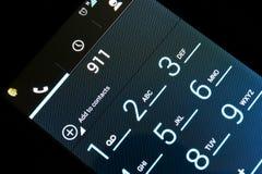 Appel d'urgence à 911 Image stock