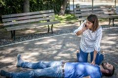 Appel d'urgence à 911 Images libres de droits
