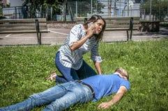 Appel d'urgence à 911 Photographie stock