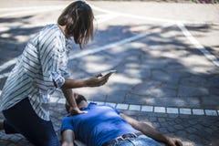 Appel d'urgence à 911 Photos libres de droits