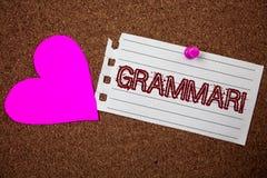 Appel de motivation de grammaire des textes d'écriture Le système de signification de concept et la structure des règles d'écritu Image libre de droits