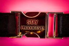 Appel de motivation productif de séjour des textes d'écriture La productivité de concentration d'efficacité de signification de c photographie stock