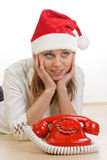 Appel de Noël photo libre de droits