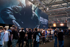 Appel de rendement : Ops noir chez GamesCom Photo stock