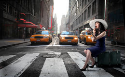 Appel de taxi Images libres de droits