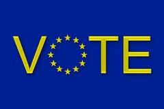 Appel de VOTE à l'action photos stock