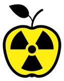 Appel die door straling wordt verontreinigd Royalty-vrije Stock Fotografie