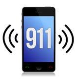 Appel du numéro 911 de secours illustration stock