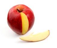 Appel en bit van appel Royalty-vrije Stock Foto's