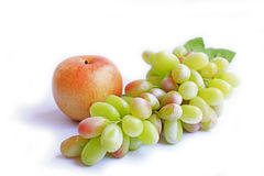 Appel en druif Stock Foto