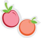 Appel en Sinaasappel Royalty-vrije Stock Foto's