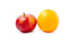 Appel en sinaasappel Stock Foto