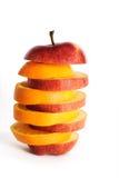 Appel en sinaasappel Stock Fotografie