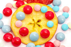 Appel en vitaminen Royalty-vrije Stock Fotografie