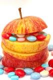 Appel en vitaminen Stock Foto