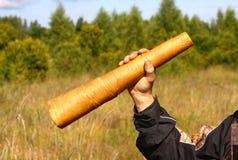 Appel fait main de grognement de cerfs communs Images libres de droits