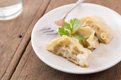 appel Gyoza d'Obscur-somme photographie stock