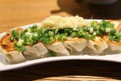 appel Gyoza, nourriture asiatique d'Obscur-somme de tradition photographie stock libre de droits