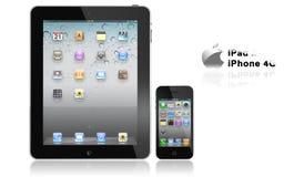 Appel iPad 2 en iphone 4G Royalty-vrije Stock Foto's