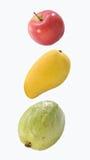 Appel, mango & guave Stock Foto's