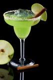Appel Margarita - de Meeste populaire cocktailsreeks stock foto