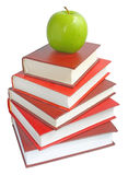 Appel met de boeken royalty-vrije stock foto