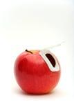 Appel met deksel stock afbeeldingen