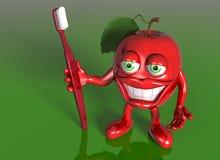Appel met een grote grijns Stock Foto