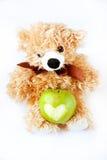 Appel met een stuk speelgoed Royalty-vrije Stock Fotografie